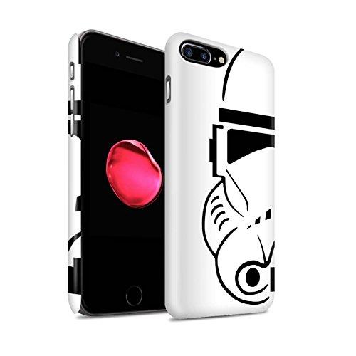 Stuff4 Matte Duro Snap On Custodia/Cover/Caso/Cassa del Telefono per Apple iPhone 7 Plus/Clone Soldato/Assalto Soldato Casco Disegno
