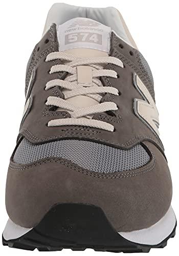 New Balance Zapatillas 574 V2 para hombre, Castlerock/Stee, 41.5 EU