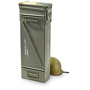 Surplus U.S. Military PA154 120mm Mortar Ammo Can, Used