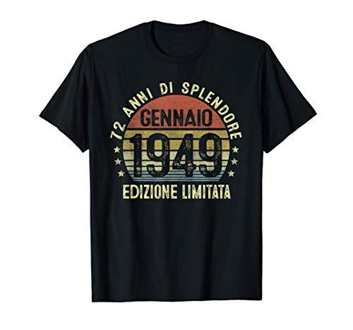 72 Anni Compleanno Uomo Donna Regalo Vintage Gennaio 1949 Maglietta