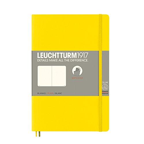 LEUCHTTURM1917 358304 Libreta de notas Paperback (B6+) tapas blandas, 123 páginas numeradas, lisa, limón