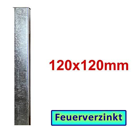 BAUER - Zaun- Torpfosten VZ, zum Einbetonieren, 120x120x3mm, L = 1900mm