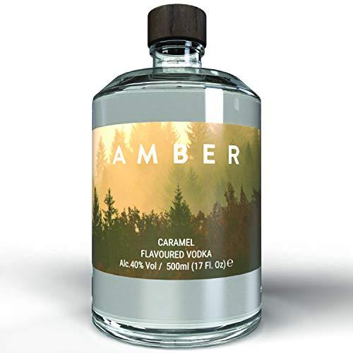 THE VODKA COLLECTIVE - Amber Vodka Caramel - Wodka mit Karamell Geschmack I Geschenke für Freunde - Shot Flaschen - Soul Bottle I Korn Schnaps Spirituosen auf pflanzlicher Basis aus Hamburg - 500 ml