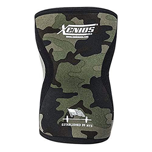 Xenios USA Ergonomischer Kompressionsknieschützer aus Neopren-militärgrün Camo-M, PSNYKNGD12