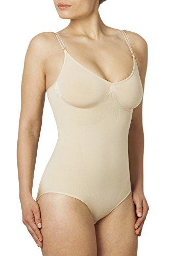 SLEEX Figurformender Damen Body (feine, verstellbare Traeger), M/L, Nude