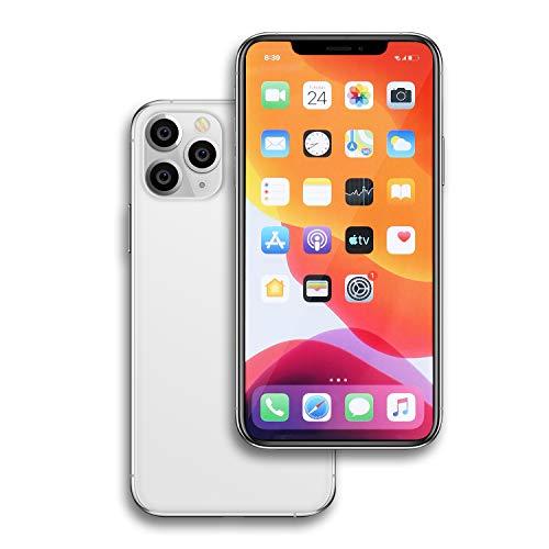 Raytonee Gefälschte Telefon Metallic-Modell [2nd Gen] Dummy-Display Nicht funktionierende Replik Telefon Spielzeug für Phone X 10 (11ProMAX Silver Menü-Bildschirm)