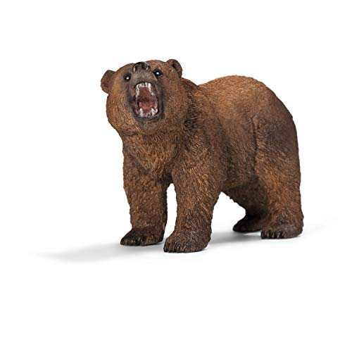Schleich Wild Life Grizzly Bear Educational Figurine for Kids Ages 3-8