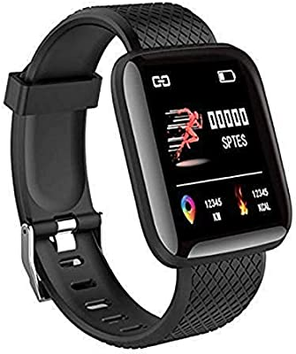 SHOPTOSHOP Smart Band ID0116 Fitness Tracker Watch Heart Rate with Activity Tracker Waterproof Body Functions Like Steps Counter, Calorie Counter, Heart Rate Monitor
