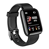 SHOPTOSHOP Smart Band ID166 Fitness Tracker Watch Heart Rate with Activity Tracker Waterproof Body...