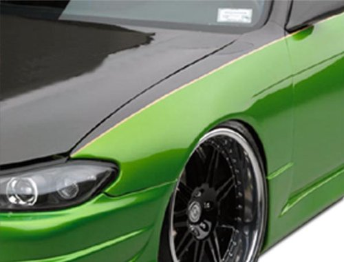 Extreme Dimensions Duraflex Replacement for 1995-1998 Nissan 240SX S14 Silvia S15 Conversion OEM Look Fenders - 2 Piece