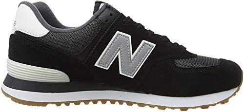 New Balance Herren 574v2 Sneaker, Schwarz (Black/Grey SPT), 44.5 EU