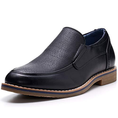 Alpine Swiss Carter Mens Slip On Loafers Snakeskin Dress Shoes Black 10 M US