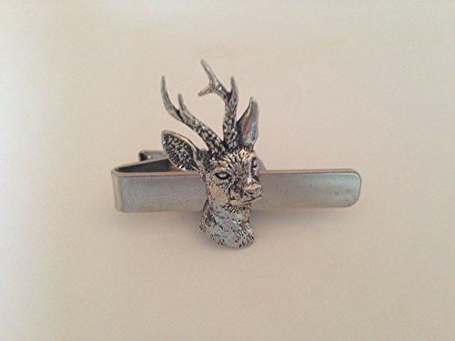 A9 Roe Deer English Pewter emblème sur une pince à cravate 4 cm fait à la main à Sheffield Livré avec prideindetails Boîte Cadeau