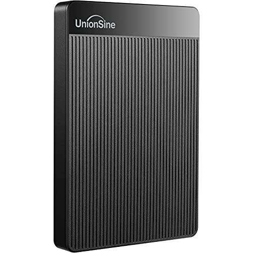 "UnionSine 2,5"" 500GB Ultra Slim Hard Disk Esterno Portatile USB3.0 SATA HDD Storage per PC, Mac, Desktop, Laptop, MacBook, Chromebook (Nero) HD-006"