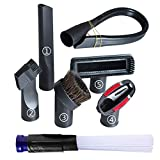 GIB cleaningtool 32mm (1-1/4 inch) Vacuum Attachments Brush Kit Universal Replacement Dirt Remover for Home Air Vents Corner Pets Drawer Car Dusty Brush Vacuum Attachment