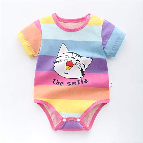 LiuQ Baby Strampler Neugeborenes Baby-Mädchen-Karikatur-Baumwollstrampler Baby-Baby-Tasche Fart Weste Overall Sommer-dünne Penguin Pyjamas Outfit (Color : Caimao, Kid Size : 24M)