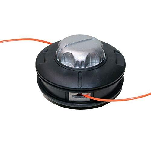 TOOLSTAR Cabezal de desbrozador, 2 líneas, cabezal de alimentación de percusión, cortador de cepillo de repuesto – Tamaño de rosca M10 x 1.25 cortadora de césped