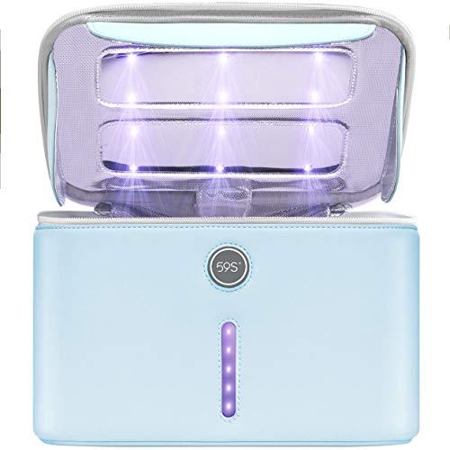 59S Sterilizzatore UV, 24 Perline della Lampada, Grande Capacità, UV Sterilizzatore Scatola LED, Lampade di Sterilizzatore Ultravioletta Professionale, per Telefoni Cellulari, Cura della Persona