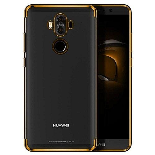 Huawei Mate 10 Pro Hülle, AOLANDER Huawei Mate 10 Pro Handyhülle TPU Case Cover, Leicht Flexible Rugged Armor Hybrid Defender Shockproof Schutzhülle für Huawei Mate 10 Pro (Gold) - 2