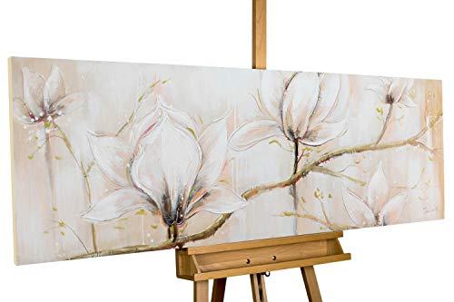 KunstLoft Dipinto Acrilico 'Concorso per la Gloria' 150x50cm | Tele Originali manufatte XXL | Pastello Beige | Quadro da Parete Dipinto in Acrilico Arte Moderna in Un Pezzo