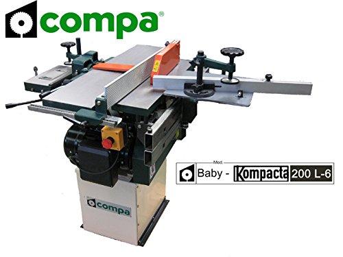 Compa - Baby Kompacta 200-L6 - Machine pour travailler le bois avec plan de travail en fonte, lame 250mm