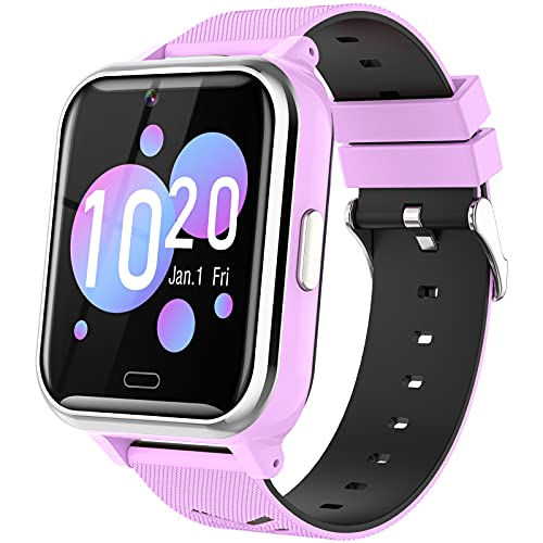 Kids Smart Watch Girls Boys - Smart Watch for Kids Watches Ages 4-12 Years with 17 Learning Games Dual Camera Music Video Player Alarm Clock Calculator Calendar Flashlight Children Toys Gifts (Purple)