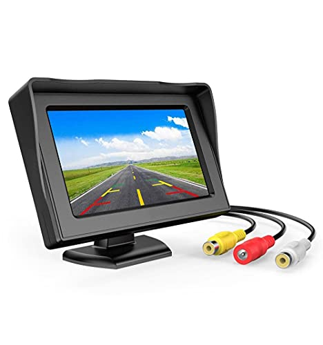 FABTEC Car LCD TFT Dashboard Display 4.3 Inch Rear View Colour Monitor Screen for All Cars