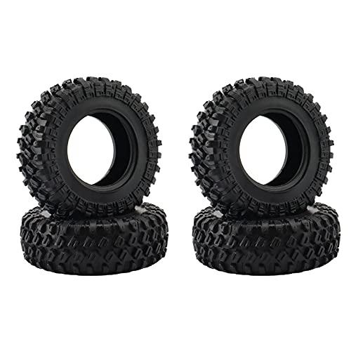 WYDM 4PCS 1.0 48X18mm Neumáticos de Rueda de Goma Neumático para 1/24 RC Car SCX24 90081 Piezas de actualización