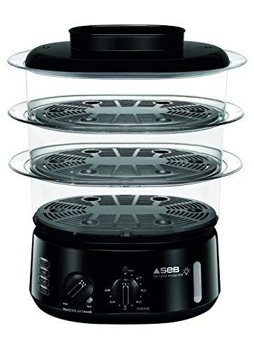 SEB Simply Invents Cuiseur Vapeur 3 Bols Capacité modulable Maintien au Chaud Noir VC110800
