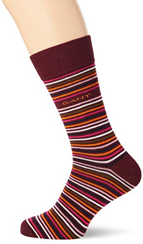 GANT Herren D1. 1-Pack Multi Stripe Klassische Socken, Port RED, Onesize