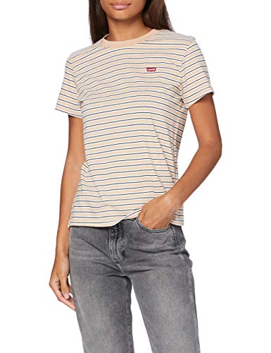 Levi's Damen Perfect Tee T-Shirt, Moonstone Toasted Almond, M