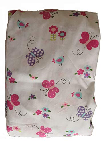 Baby Crib Bedding Sheets, Cotton Crib Sheet, Cute Cartoon Print Fitted Crib Sheet of All Kinds (Purple Butterfly)