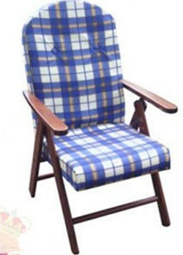 Poltrona Amalfi o Campania reclinabile in 4 Posizioni A Fantasia di Tessuto (Azzurra)