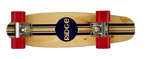 """Complete 55cm Maple Wooden Retro 22"""" Mini Cruiser Board by Ridge Skateboards"""