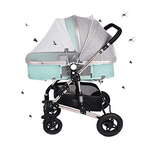 QINGJIANG Mosquitera universal para cochecitos de bebé, para cochecitos y camas de viaje (blanco)