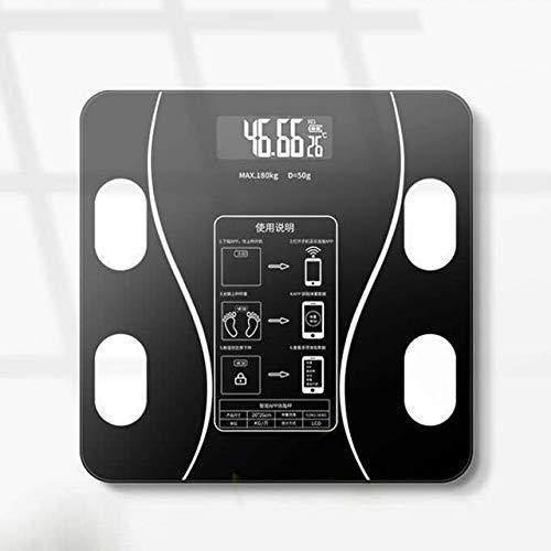 Mdsfe Bluetooth Elektronische Waage Körperfettwaage Gewichtswaage Wiegen für den Körper Digitale Waage Hartes LCD-Display aus gehärtetem Glas - a3, Typ B.