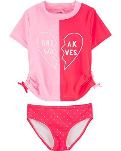 Carter's Girls' Rashguard Swim Set 3