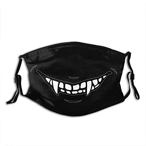 Vampire Fangs Personalisierter Mundschutz mit Filter Unisex Anti-Dust Washable Wiederverwendbarer Mundschutz (Vampire Fangs3)
