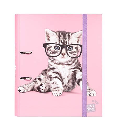 Carpeta 2 anillas troquelada premium Studio Pets Cats 2019