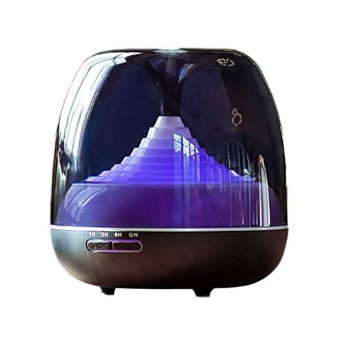 Aromatherapie etherische olie Diffuser 400ml 8 Hours With Timer Ultrasoon luchtbevochtiger for grote kamer, huis, baby Slaapkamer, Waterless automatische uitschakeling, 7 kleuren branden Veranderen va