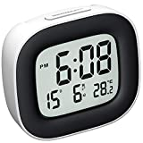 Hommak Travel Alarm Clock, Digital Clock with Snooze, Temperature, Date, Simple Basic Operation