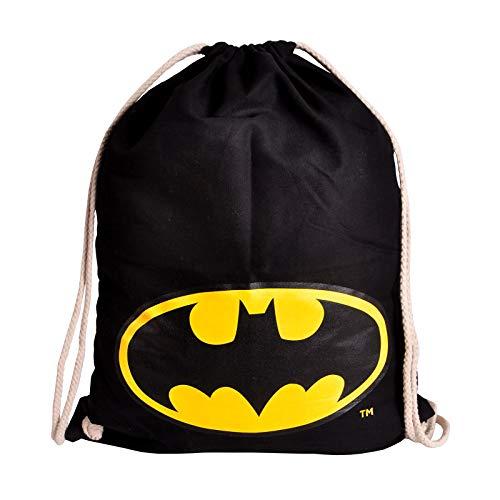 Elbenwald Batman Sportbag Logo 46x36cm DC Comics Baumwolle schwarz