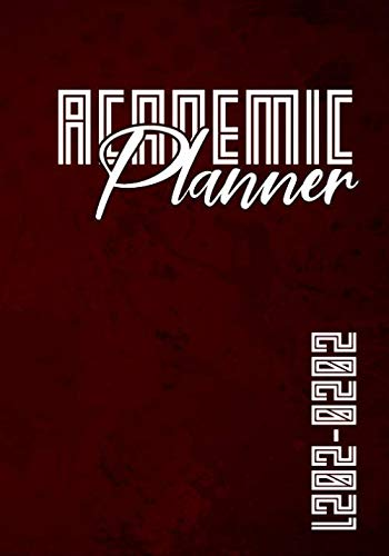 2020-2021 Academic Planner: Red Grunge I For High School I U.S. Student Planner I Time Table, Weekly, Grade Tracker, Projects, Notebook, Address Book, ... Calendar + Holidays I Freshman Gift Idea