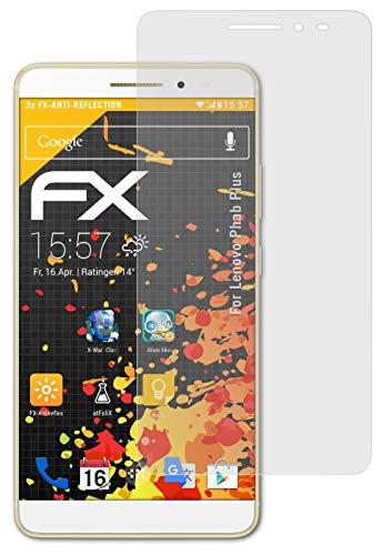 atFolix Panzerfolie kompatibel mit Lenovo Phab Plus Schutzfolie, entspiegelnde & stoßdämpfende FX Folie (3X)