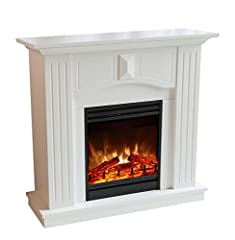EL Fuego Elektrische Open haard Trondheim S Open haard Deco Open haard elektrische oven oven MDF Wit *