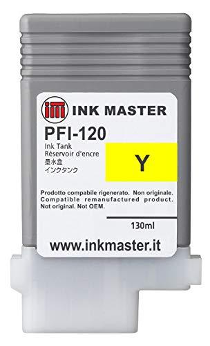 Ink Master - Cartuccia rigenerata CANON PFI-120 YELLOW per Canon IPF TM-200 TM-205 TM-300 TM-305