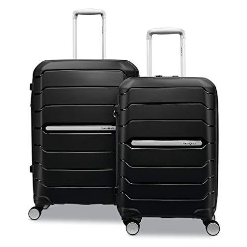 Samsonite Freeform Hardside Expandable with Double Spinner Wheels, Black, 2-Piece Set (21/28)
