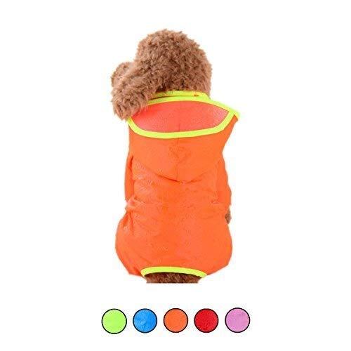 Honden Waterdichte Regenjas Pet vier poten met capuchon Jumpsuit verstelbare elastische Outdoor Kleding for kleine middelgrote honden (5 kleuren) (Color : Pink, Size : Medium)