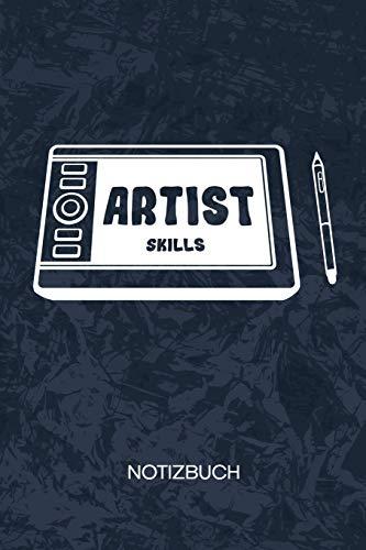 Artist Skills: Konzept Artist Notizbuch A5 Kariert - Entwickler Heft - Game Development Notizheft 120 Seiten KARO - Grafik Tablet Notizblock Game Artist Motiv - Programmierer Geschenk