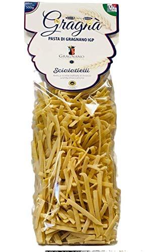 PASTA MASSA DI GRAGNANO - 2 Kg di Scialatielli (4x500 gr) Pasta di Gragnano IGP Trafilata al Bronzo con Utilizzo di Grano 100% Italiano - Eccellenza Italiana Pasta di Semola di Grano Duro